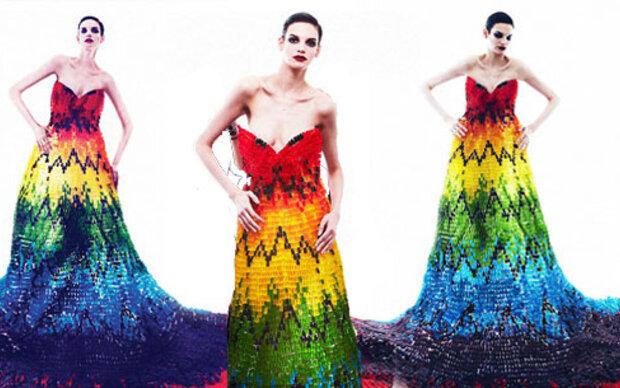 Alexander McQueen inspiriertes Gummibären-Kleid