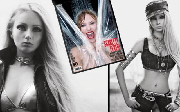 Die lebende Barbie posiert für das V-Magazine