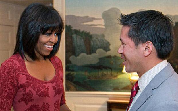 Michelle Obama mit neuem Haarstyle