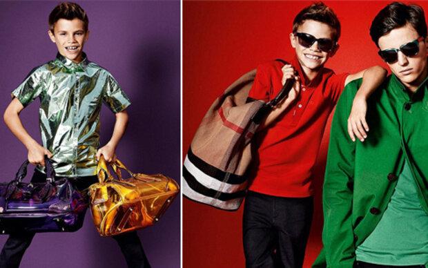 Romeo Beckham stiehlt Burberry-Models die Show