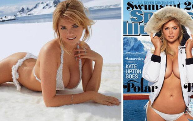 Kate Upton als sexy Polar-Mädchen