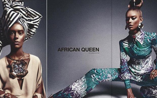 Magazin verwandelt weißes Model in Afrikanerin