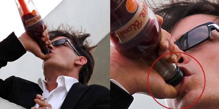 Trinkt Charlie Sheen wirklich Tigerblut?