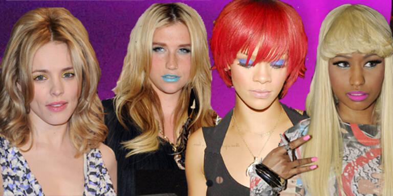 Augen, Nägel, Lippen: Stars tragen jetzt Neon
