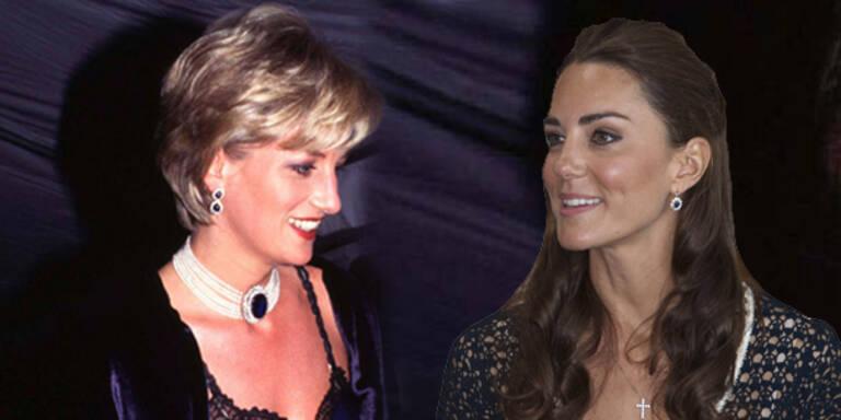 Kate trägt Dianas Diamanten