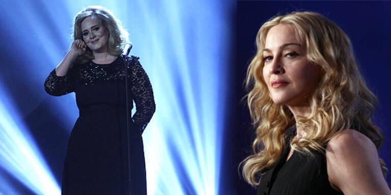 Madonna verteidigt Adele nach Lagerfeld-Kritik
