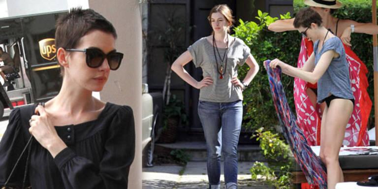 Anne Hathaway zeigt sich erschlankt