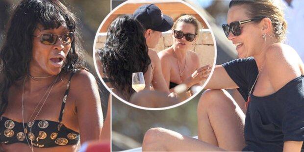 Naomi Campbell & Kate Moss machen Ferien