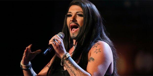 Falsche Conchita Wurst rockt RTL-Show
