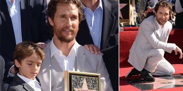 McConaughey erhielt Hollywood-Stern