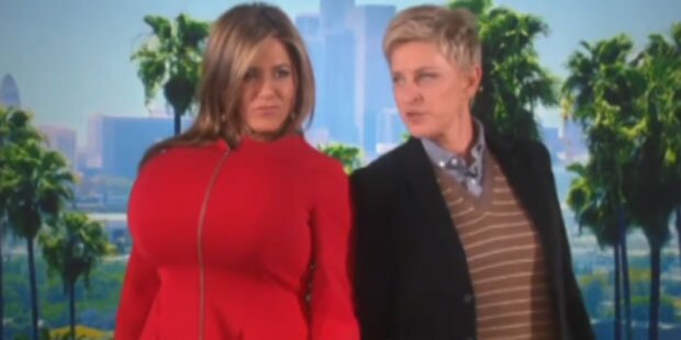 Aniston macht sich über Kims Po lustig