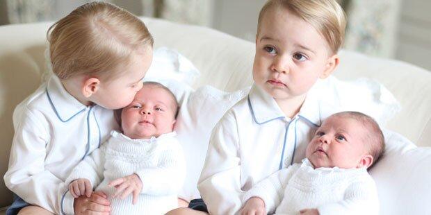 Baby Charlotte viel einfacher als George