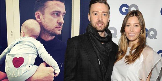Justin Timberlake: Stolz mit Baby