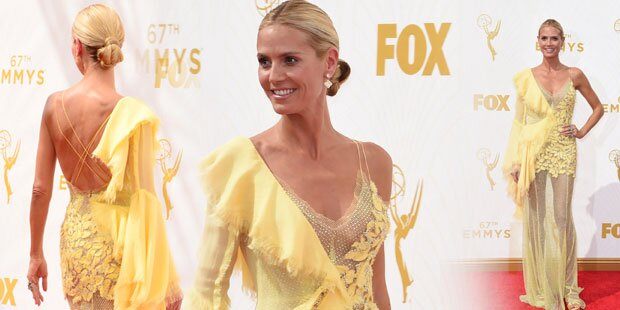 Emmys: Heidi zeigt Bein, keine Kurven