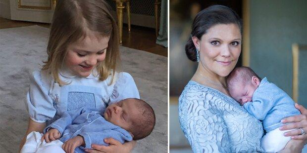 Estelle kuschelt mit Baby Oscar