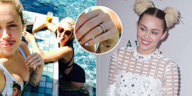 Miley Cyrus, was ist das für ein Ring?
