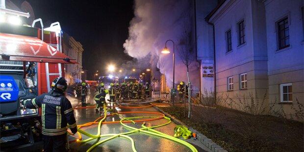 Explosion im Stadtzentrum von Hollabrunn