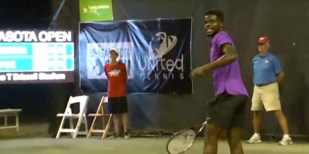 Lautes Sex-Gestöhne stört Tennis-Match