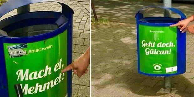 Müll-Kampagne sorgt für Aufregung