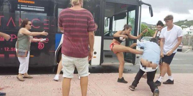Busfahrer auf Ibiza von Paar verprügelt