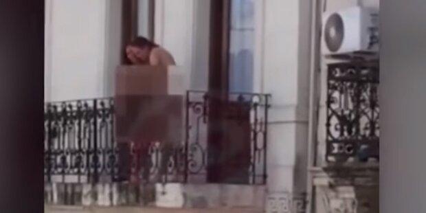 Mitten in der Stadt: Paar beim Balkon-Sex erwischt