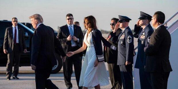 Neues Handgate: Melania blamiert Trump