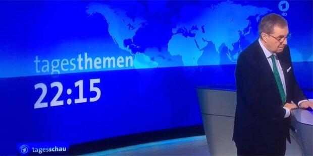 Schock: Tagesschau-Sprecher bricht im Live-TV zusammen