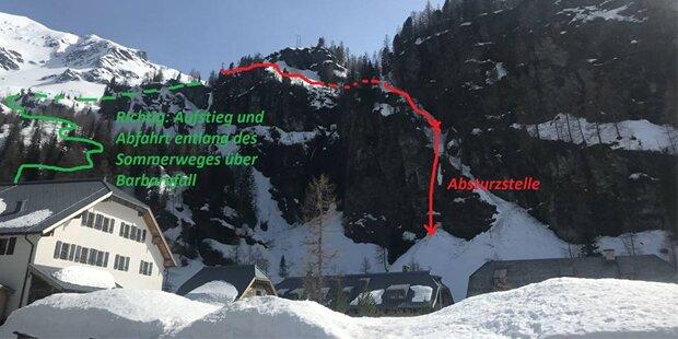 Tourengeher überlebt 30-Meter-Absturz unverletzt