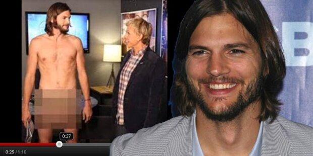 Ashton Kutcher zog sich in TV-Show aus
