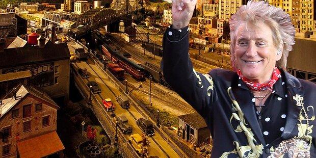 Rod Stewart bastelte 26 Jahre an Modelleisenbahn