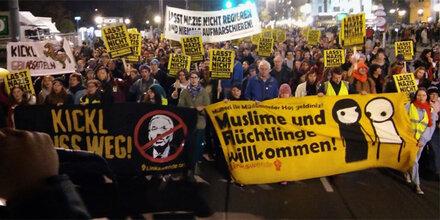 Anti-Kickl-Demo legte Wiener City lahm