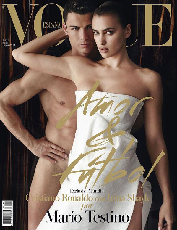 Cristiano Ronald nackt auf dem Comver der Vogue Espana