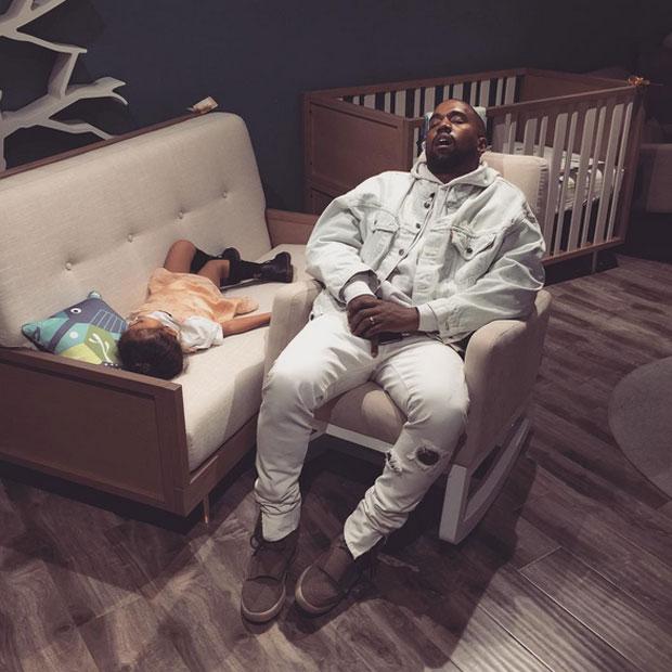Kanye West, North West, Kim Kardashian