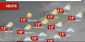 Aktuelle Wetterprognose für Freitag