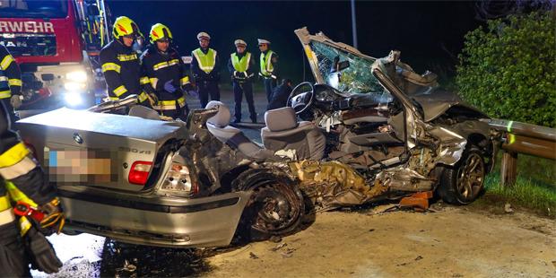 Hörsching Unfall B1 mit drei Toten