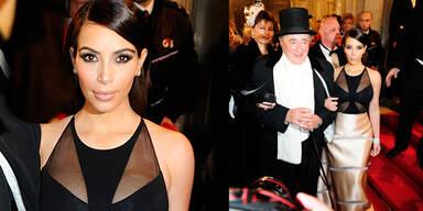 Kim Kardashian: Tiefe Einblicke am Opernball