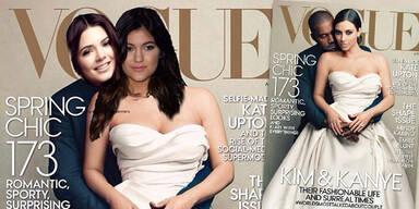Kim Kardashian & Kanye am Vogue-Cover: Spott von Kendall & Kylie Jenner