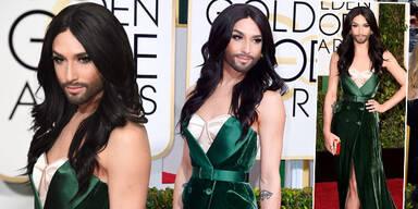 Conchita Wurst bei den Golden Globes 2015