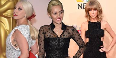 Miley Cyrus, Taylor Swift, Lady Gaga
