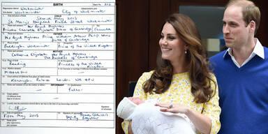 Herzogin Kate, Prinz William, Prinzessin Charlotte