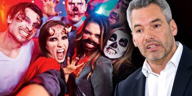 Nehammer plant ''Aktion scharf'' gegen Halloween-Partys