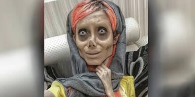 ''Zombie-Angelina-Jolie'' muss für 10 Jahre im Iran ins Gefängnis   Wegen ihrer Bilder!