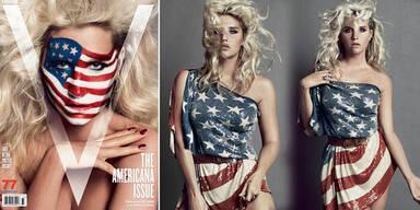 Ke$ha im Flaggenlook fürs V-Magazine