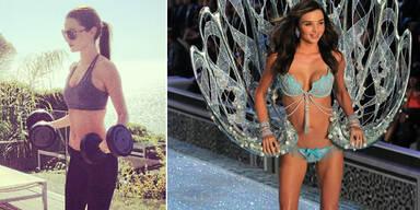 Gewichte heben für Victoria's Secret-Show 2012
