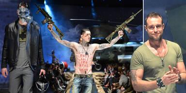 Plein sorgt mit Waffen-Show für Aufregung