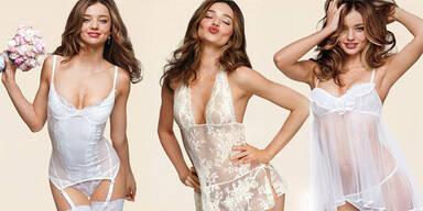 Miranda Kerr zeigt Braut-Dessous
