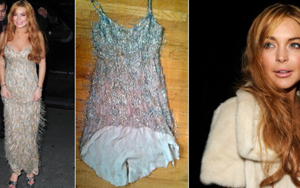 Lindsay Lohan ruiniert Designer-Robe