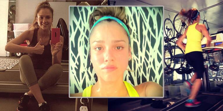 Jessica Alba im Fitness-Fieber