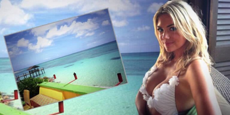 Kate Upton: Sonnige Grüße aus der Karibik