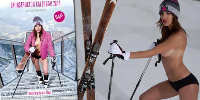 Amina Dagi: Sexy im Skilehrer-Kalender